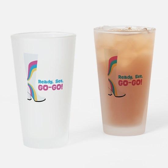 Ready Set, GO-GO! Drinking Glass