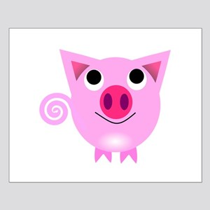 Cartoon Pig Poster Design