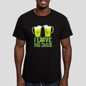 I LOVE BIG JUGS with green shamrock beers T-Shirt
