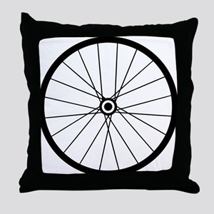 Bicycle Wheel  Throw Pillow