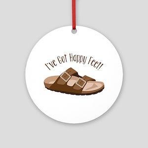 Ive Got Happy Feet! Ornament (Round)