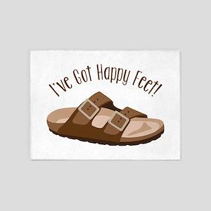 Ive Got Happy Feet! 5'x7'Area Rug