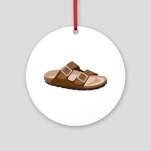 Hippie Birkenstock Sandal Ornament (Round)