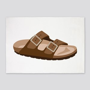 Hippie Birkenstock Sandal 5'x7'Area Rug