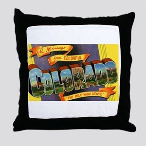 Colorado Greetings Throw Pillow