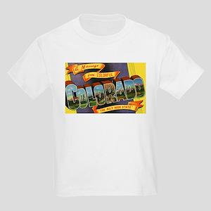 Colorado Greetings (Front) Kids Light T-Shirt