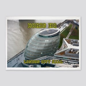 Boris HQ London City Hall 5'x7'Area Rug