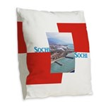 Sochi Burlap Throw Pillow