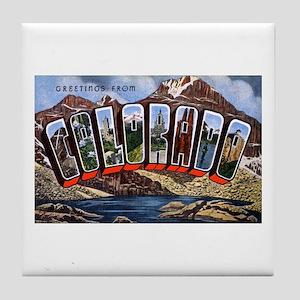 Colorado Greetings Tile Coaster