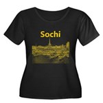 Sochi Women's Plus Size Scoop Neck Dark T-Shirt