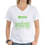 Sochi Women's V-Neck T-Shirt
