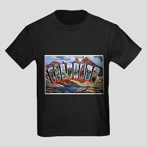 Colorado Greetings (Front) Kids Dark T-Shirt