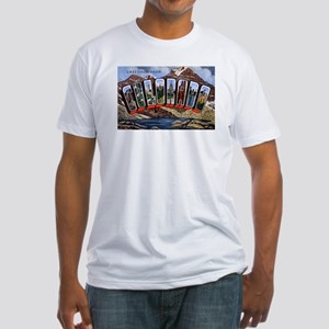 Colorado Greetings (Front) Fitted T-Shirt