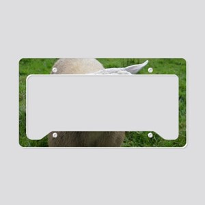 Cuddly Lamb License Plate Holder