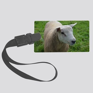 Cuddly Lamb Large Luggage Tag
