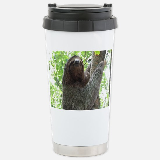Sloth in a Tree Stainless Steel Travel Mug