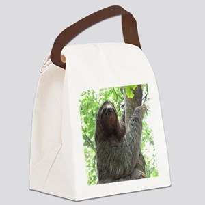 Sloth in a Tree Canvas Lunch Bag