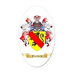 Flanders Oval Car Magnet