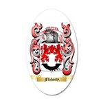 Flaherty 35x21 Oval Wall Decal