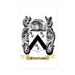 Fitzwilliams Sticker (Rectangle 50 pk)
