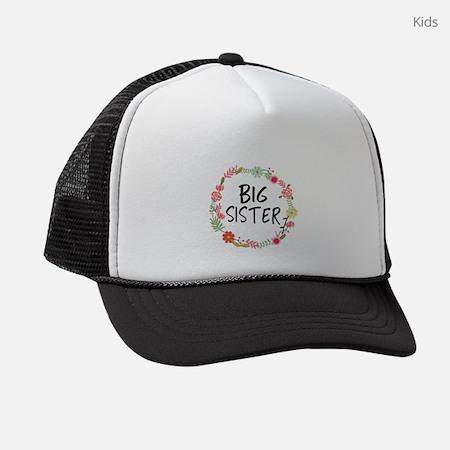 Big Sister Floral Kids Trucker Hat
