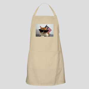 Cool Cat with American Flag Apron
