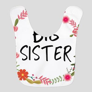 Big Sister Floral Polyester Baby Bib