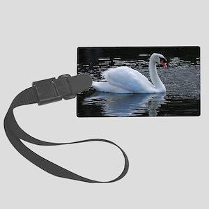 Swan Swimming Large Luggage Tag
