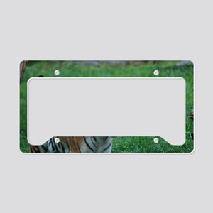 Prowling Tiger License Plate Holder
