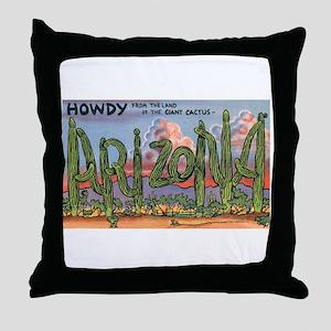 Arizona Greetings Throw Pillow