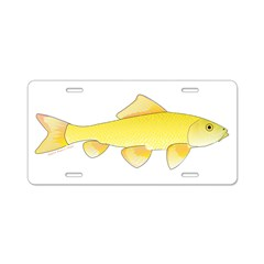 Golden Redhorse 3 Aluminum License Plate