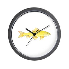 Golden Redhorse 3 Wall Clock