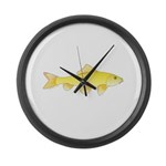 Golden Redhorse 3 Large Wall Clock