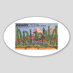 Arizona Greetings Oval Sticker