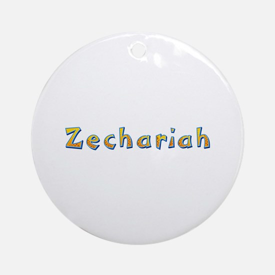 Zechariah Giraffe Round Ornament