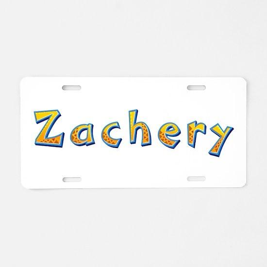 Zachery Giraffe Aluminum License Plate