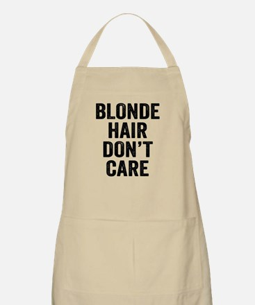 Blonde Hair Dont Care Light Apron