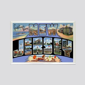 New Jersey Greetings Rectangle Magnet