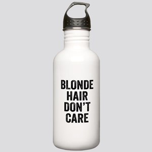 Blonde Hair Dont Care Water Bottle