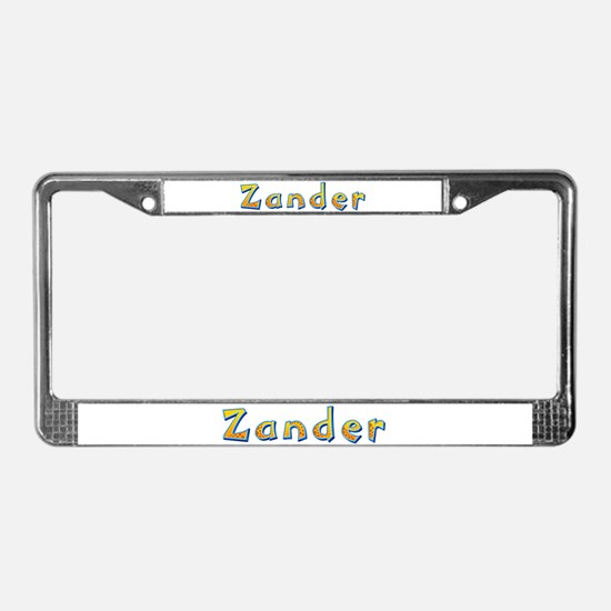 Zander Giraffe License Plate Frame