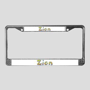 Zion Giraffe License Plate Frame