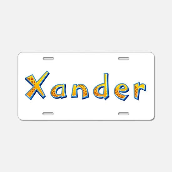 Xander Giraffe Aluminum License Plate