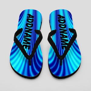 Abstract Blue Flip Flops