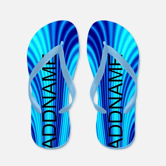 Abstract Blue Flip Flops