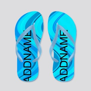Pop Art Blue Flip Flops
