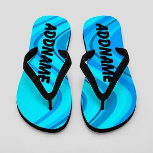 Pop Art Blue Flip Flops