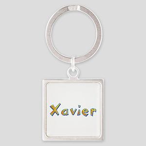 Xavier Giraffe Square Keychain
