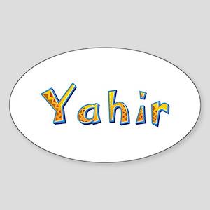 Yahir Giraffe Oval Sticker