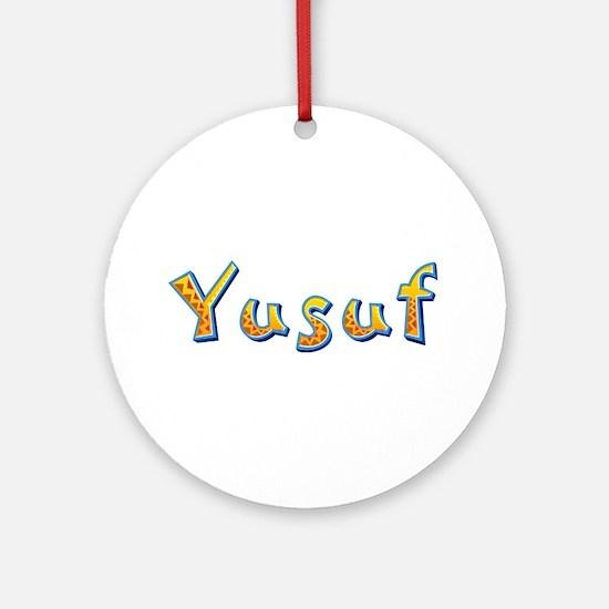 Yusuf Giraffe Round Ornament