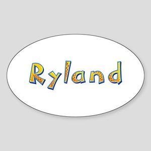 Ryland Giraffe Oval Sticker